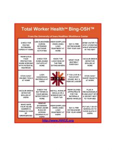 Total Worker Health™ Bing-OSH™