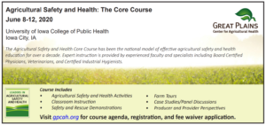 Agricultural Safety and Health: The Core Course @ Online | Iowa City | Iowa | United States